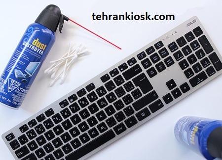 روش تمیز کردن کیبورد بدون آسیب رسیدن به سیستم آن