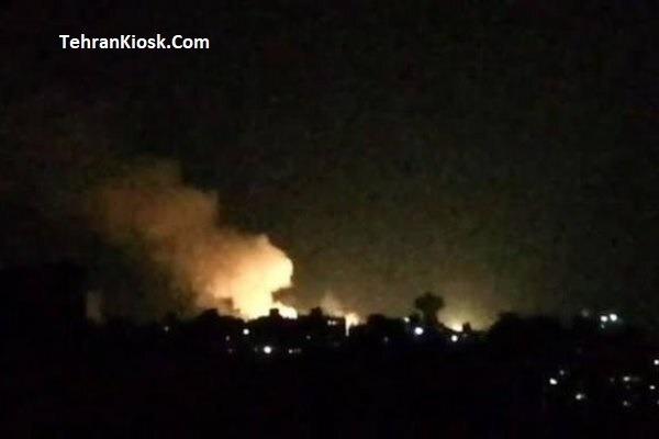 شنیده شدن صدای انفجار در آسمان دمشق و تجاوز رژیم صهیونیستی + عکس