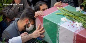تشییع پیکر ۲۶ شهید گمنام هم زمان با شهادت حضرت فاطمه(س) + عکس