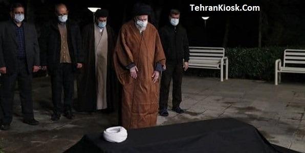 اقامه کردن نماز رهبر انقلاب سحرگاه امروز بر پیکر علامه مصباحیزدی