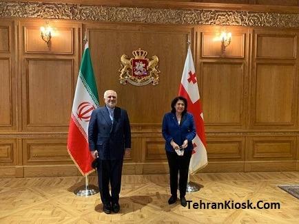 در ادامه سفر به حوزه قفقاز؛ دیدار و گفتگوی ظریف با رئیسجمهور گرجستان