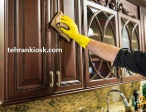 آموزش تمیز کردن کابینت چوبی با روش های اصولی و صحیح