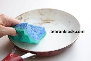 ترفندهای تمیز کردن ظروف تفلون بدون آسیب رساندن به بافت ظرف