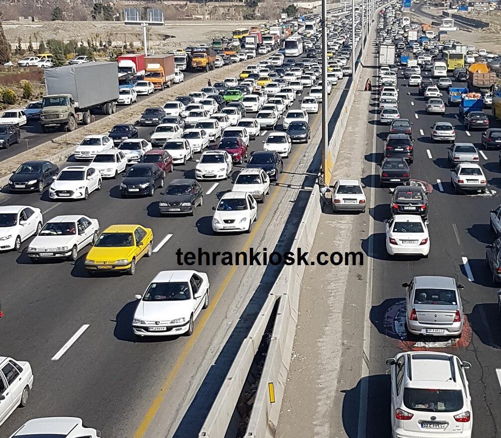 ترافیک سنگین در محورهای شمالی و بررسی محورهای مسدود شده