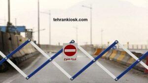 تردد در محور کرج – چالوس توسط رئیس پلیس راه البرز ممنوع شد