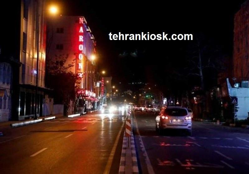 تعیین مبلغ جریمه تردد غیر مجاز شبانه در ساعات ممنوعه توسط پلیس راهور تهران