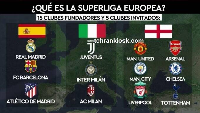 تاسیس سوپر لیگ اروپا با وجود تهدیدات شدیداللحن یوفا و فیفا + جزئیات