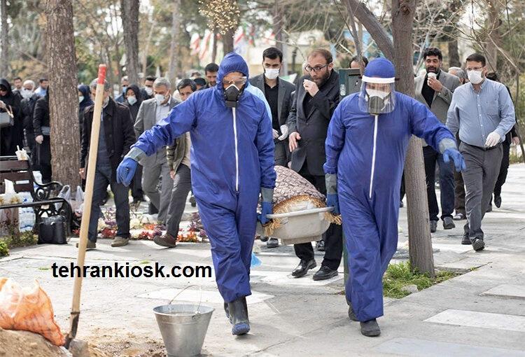 سهم تهران از متوفیان کرونایی کل کشور 40 درصد میباشد