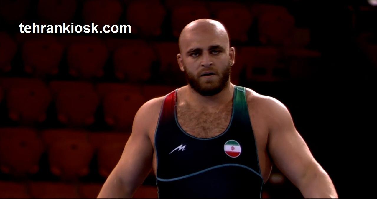 کسب مدال برنز کشتی آزاد توسط امین طاهری در وزن ۱۲۵ کیلوگرم