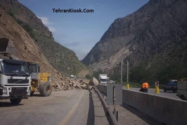 رئیس پلیس راه مازندران از ریزش کوه در محور هراز و مسدود شدن این محور خبر داد