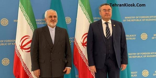 وزیر امور خارجه: مذاکرات درباره ترسیم خط مبدا در خزر در نشست خبری با همتای قزاقستانی