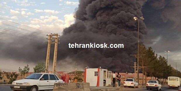 شمار مصدومان حادثه حریق کارخانه صنایع شیمیایی در استان قم + جزئیات